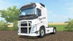 Volvo FH16 750 anti flash white para Farming Simulator 2017