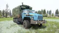 Ural-4320 suave de color azul para MudRunner