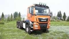 MAN TGS cadmium orange para MudRunner