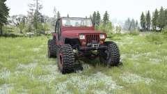 Jeep Wrangler (YJ) pale carmine para MudRunner