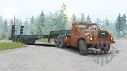 Tatra T148 6x6 v1.2 color naranja oscuro para Spin Tires