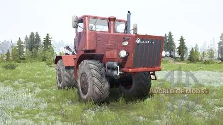 Kirovets K-700 suave color rojo para MudRunner