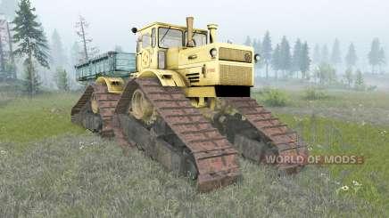 Kirovets K-700A rastreador para Spin Tires