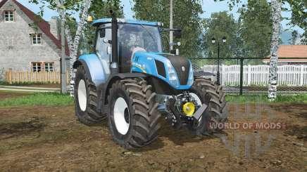 New Holland T7.240 cielo español blꭒᶒ para Farming Simulator 2015