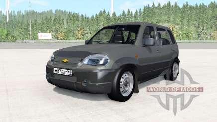 Chevrolet Niva gris oscuro para BeamNG Drive