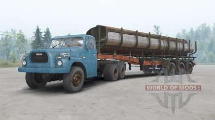 Tatra T148 6x6 v1.2 de color azul para Spin Tires