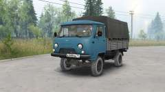 UAZ-452Д de color azul oscuro para Spin Tires