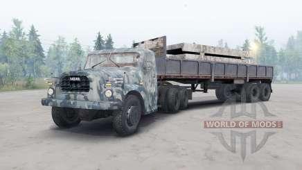 Tatra T148 6x6 v2.2 camuflaje azul para Spin Tires