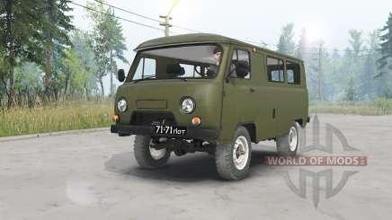 UAZ-452 oscuro grisáceo-verde para Spin Tires