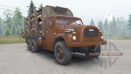 Tatra T148 6x6 v2.2 del color de la cereza para Spin Tires