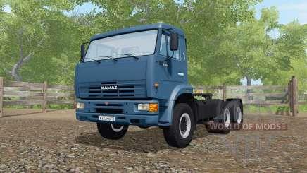 KamAZ-65116 de color azul oscuro para Farming Simulator 2017