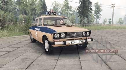 VAZ-2106 Lada de Policía de la Unión Soviética para Spin Tires