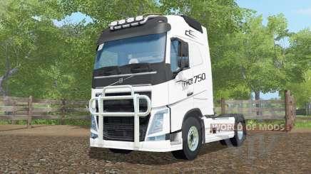 Volvo FH16 750 Globetrotter cab para Farming Simulator 2017