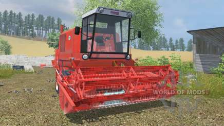Bizon Super Z056 coral red para Farming Simulator 2013