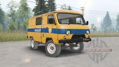 UAZ-3962 URSS Policía para Spin Tires