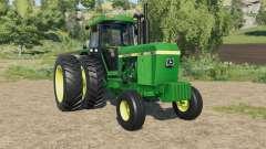 John Deere 4640 dual rear wheels para Farming Simulator 2017