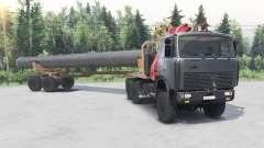 MAZ-6317 6x6 para Spin Tires