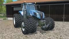 New Holland T8.320 added dual wheels para Farming Simulator 2015