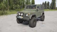 Land Rover Defender 90 Station Wagon Army para MudRunner
