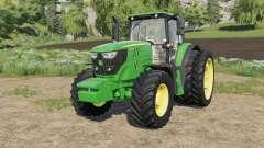 John Deere 6M-series Mitas&Michelin tires para Farming Simulator 2017