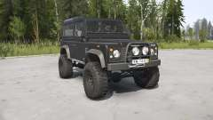 Land Rover Defender 90 Station Wagon black para MudRunner