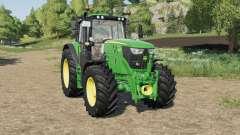 John Deere 6M-series front hydraulics installed para Farming Simulator 2017