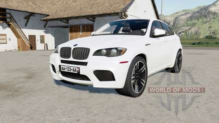 BMW X6 M (E71) 2009 anti flash white para Farming Simulator 2017