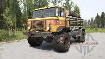 GAZ-66 naranja para MudRunner