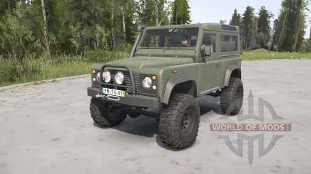 Land Rover Defender 90 Station Wagon Army para MudRunner