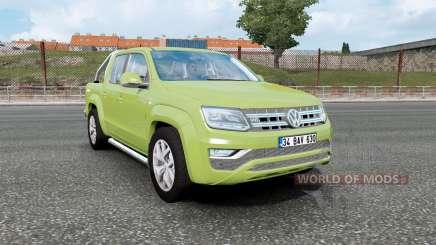 Volkswagen Amarok Double Cab 2016 olive green para Euro Truck Simulator 2
