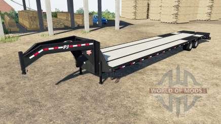 PJ Trailers L3 Low-Pro Flatdeck para Farming Simulator 2017