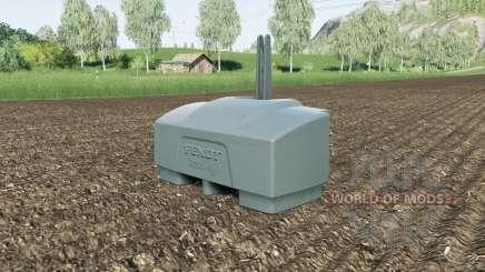 Fendt weight 10000 kg. para Farming Simulator 2017