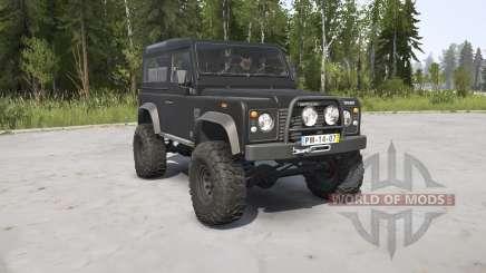 Land Rover Defender 90 Station Wagon black para MudRunner