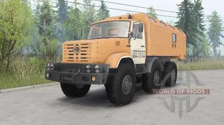 ZIL-4972 suave-naranja para Spin Tires