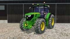 John Deere 6170R opening door and rear window para Farming Simulator 2015