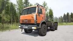 KamAZ-44108 de color naranja brillante para MudRunner