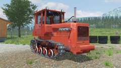 DT-75M con bulldozer equipo para Farming Simulator 2013