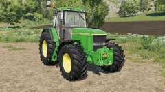 John Deere 7010 various wheel configurations para Farming Simulator 2017