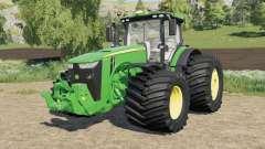John Deere 8R-series wide tire options para Farming Simulator 2017