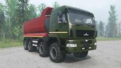 MAZ-6516В9 color verde para MudRunner