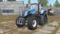 New Holland T8-series wheels options para Farming Simulator 2017