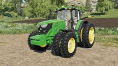 John Deere 6M-series 8 wheels configurations para Farming Simulator 2017