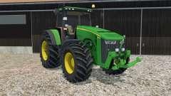 John Deere 8370R animated steering para Farming Simulator 2015