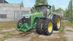 John Deere 8320R&8370R double wheels para Farming Simulator 2017