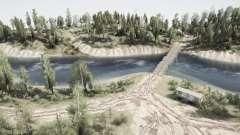 Más allá del bosque - el río para MudRunner