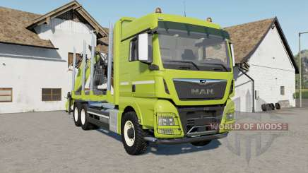 MAN TGX 26.640 with autoload wood para Farming Simulator 2017