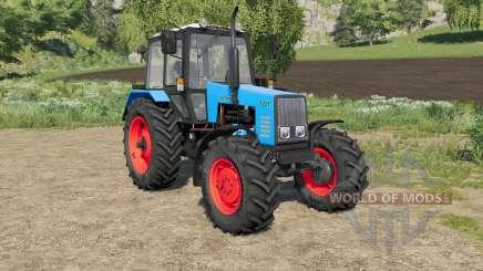 MTZ-1221 Belarús elección del color del cuerpo y las ruedas para Farming Simulator 2017