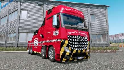 Mercedes-Benz Actros (MP4) Tow Truck v1.7 para Euro Truck Simulator 2