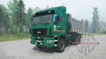MAZ-6514H9 color verde para MudRunner