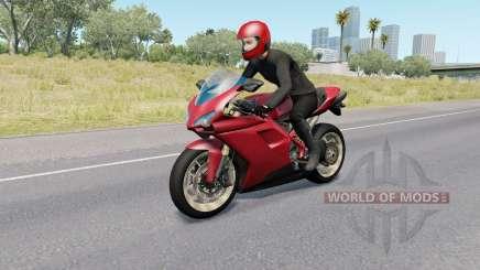 Motorcycle Traffic Pack v3.8 para American Truck Simulator